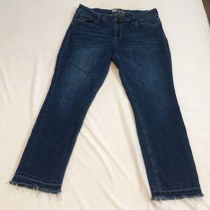 KFTK Drop Hem Straight Leg Jeans